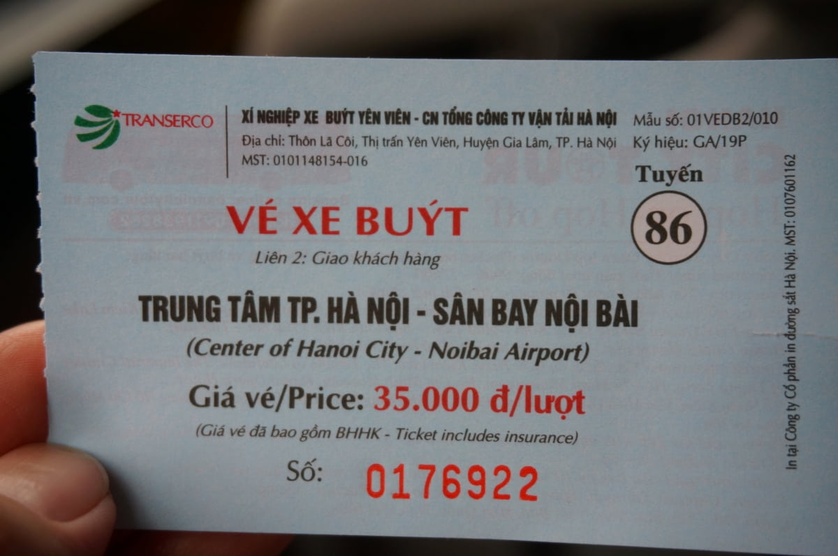 HANOI-86BUS-TICKET
