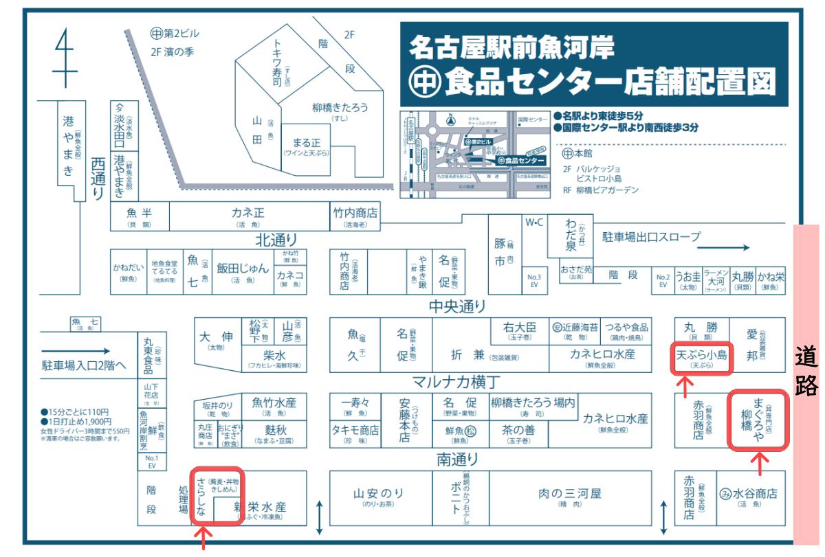 マルナカ食品センター店内マップ